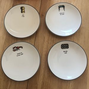 Kate Spade tidbit plates, set of four